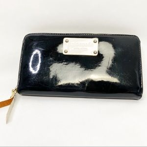 Kate Spade Neda Patent Leather Zip Around Wallet